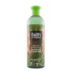 SHOWER GEL - ALOE VERA & YLANG YLANG (Faith in Nature) 400ml