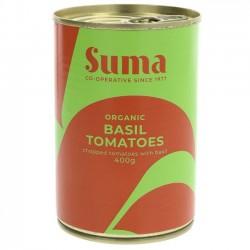 TOMATOES WITH BASIL (Suma) 400g