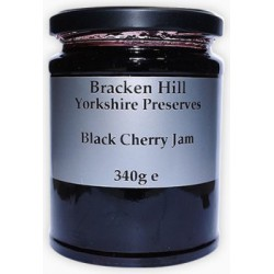 BLACK CHERRY JAM (Bracken Hill) 340g