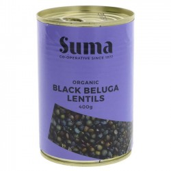 LENTILS - BELUGA TINNED (Suma) 400g