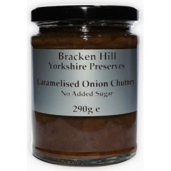 SUGAR FREE CARAMALISED ONION CHUTNEY (Bracken Hill) 300g