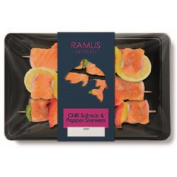 CHILLI SALMON & PEPPER SKEWERS (Ramus) 240g