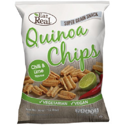 QUINOA CRISPS - CILLI & LIME (Eat Real) 30g
