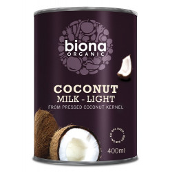 COCONUT MILK - LIGHT (Biona) 400ml
