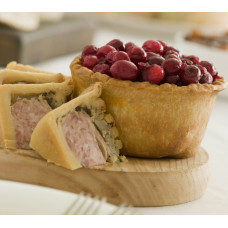 CRANBERRY TOPPED PORK PIE - SIZE 1 (Voakes)