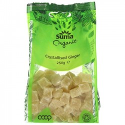 CRYSTALLISED GINGER (Suma) 250g