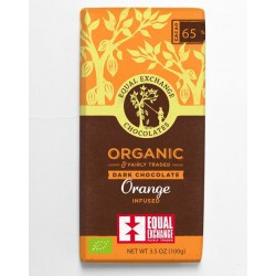 DARK CHOCOLATE WITH ORANGE 65% (Equal Exchange) 100g