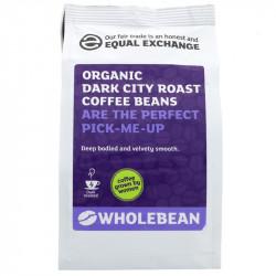 DARK CITY ROAST COFFEE BEANS (Equal Exchange) 227g