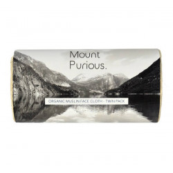 ORGANIC MUSLIN FACE CLOTH (Mount Purious.) x 2