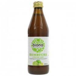 KOMBUCHA - GINGER & LIME (Biona) 330ml