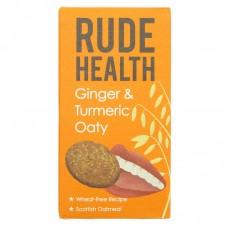 GINGER & TURMERIC OATIES (Rude Health) 200g