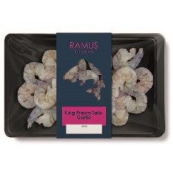 KING PRAWN TAILS GARLIC (Ramus) 180g
