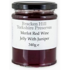 MERLOT RED WINE JELLY WITH JUNIPER (Bracken Hill) 340g