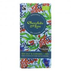 MILK CHOCOLATE 55% WITH SEA SALT (Chocolate & Love) 80g