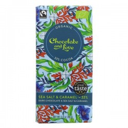 MILK CHOCOLATE 55% WITH SEA SALT (Chocolate & Love) 80g