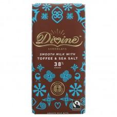 MILK CHOCOLATE WITH SALT & TOFFEE (Divine) 100g
