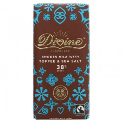 MILK CHOCOLATE WITH SALT & TOFFEE (Divine) 100g