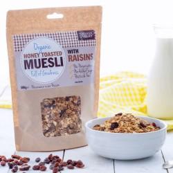 HONEY TOASTED MUESLI - WITH RAISINS (Side Oven Bakery) 500g