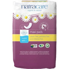 NATURAL PADS - SUPER (Natracare) x12