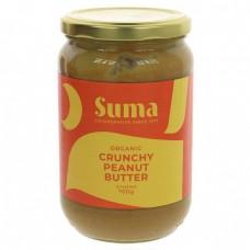 PEANUT BUTTER - CRUNCHY & UNSALTED (Suma) 700g