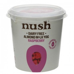 RASPBERRY ALMOND YOGHURT (Nush) 350g