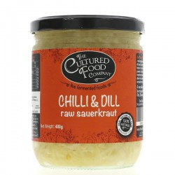 RAW SAUERKRAUT - CHILLI & DILL (Cultured Food Co.) 495g