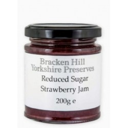 REDUCED SUGAR STRAWBERRY JAM (Bracken Hill) 180g
