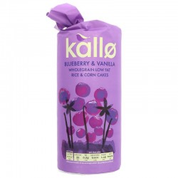 RICE CAKES - BLACKBERRY & VANILLA (Kallo) 130g