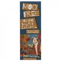 VEGAN SALTED CARAMEL CHOCOLATE (Moo Free) 80g