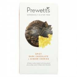 DARK CHOCOLATE & STEM GINGER COOKIES (Prewett's) 150g