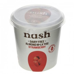 STRAWBERRY ALMOND YOGHURT (Nush) 350g