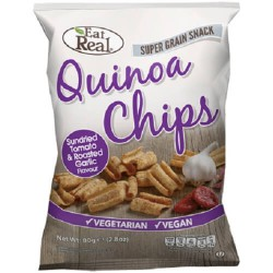 QUINOA CRISPS - SUNDRIED TOMATO & GARLIC (Eat Real) 30g