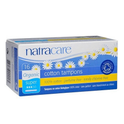 TAMPON WITH APPLICATOR - SUPER (Natracare) x16