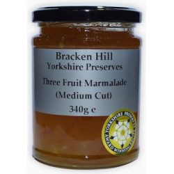 THREE FRUIT MARMALADE (Bracken Hill) 340g