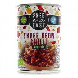THREE BEAN CHILLI - TINNED (Free & Easy) 400g