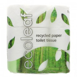 TOILET ROLL (Ecoleaf) x9