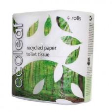 TOILET ROLL (Ecoleaf) x4