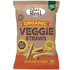 VEGGIE & KALE STRAWS (Eat Real) 100g