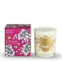 WINTER BERRIES LARGE CANDLE (Bee Fayre)