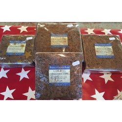 "CHRISTMAS CAKE - 8"" MEDIUM SQUARE (Worsdale) approx 1.1kg"
