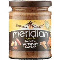 PEANUT BUTTER - SMOOTH & UNSALTED (Meridian) 280g